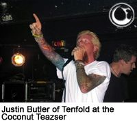 Justin Butler of Tenfold at the Coconut Teazser - Photo by Brian May