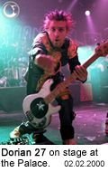 Dorian 27 of Powerman 5000 on stage at the Palace - Photo: Brian May